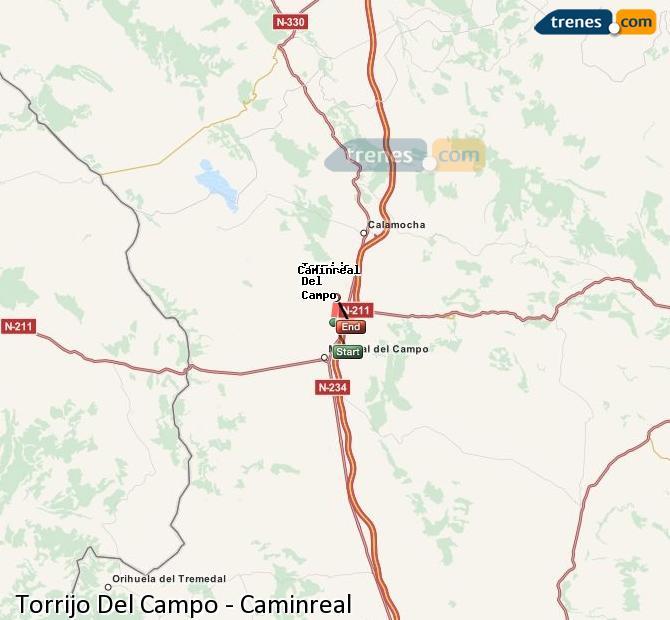 Ampliar mapa Trenes Torrijo Del Campo Caminreal