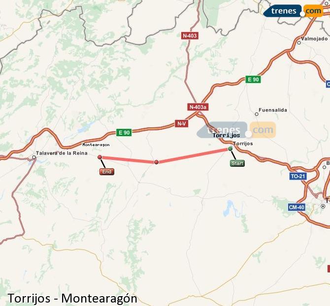 Ampliar mapa Trenes Torrijos Montearagón