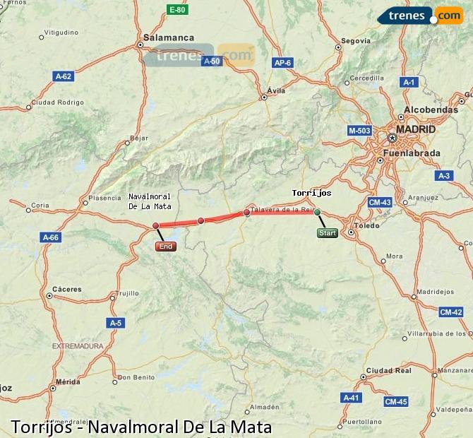 Karte vergrößern Züge Torrijos Navalmoral De La Mata