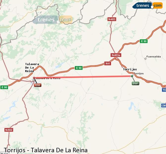 Karte vergrößern Züge Torrijos Talavera De La Reina