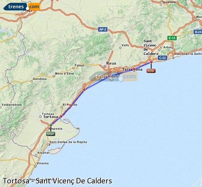 Karte vergrößern Züge Tortosa Sant Vicenç De Calders