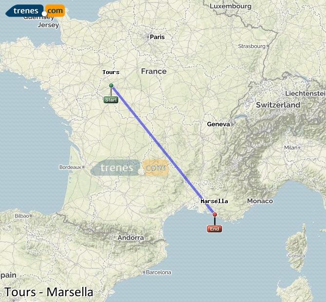 Trenes Tours Marsella