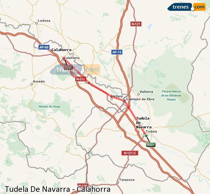 Karte vergrößern Züge Tudela De Navarra Calahorra
