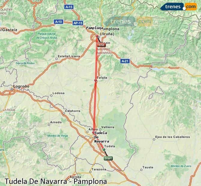 Ampliar mapa Trenes Tudela De Navarra Pamplona