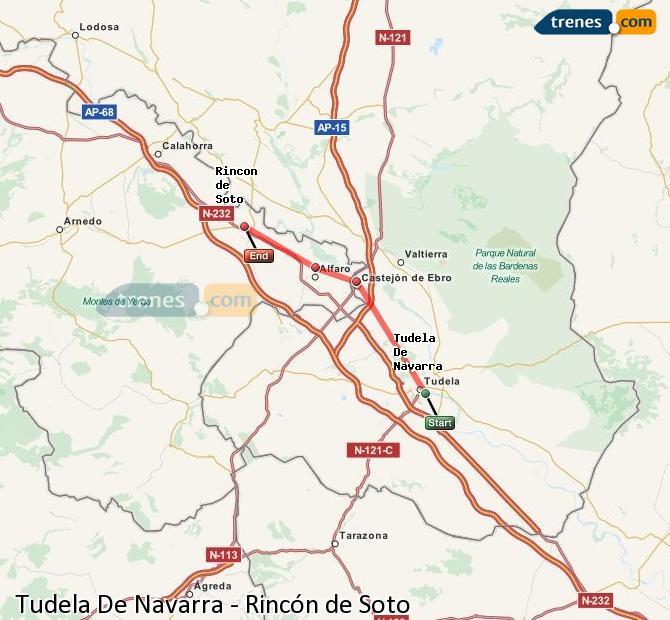Ingrandisci la mappa Treni Tudela De Navarra Rincón de Soto