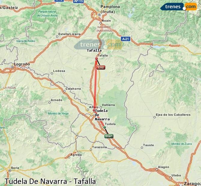 Karte vergrößern Züge Tudela De Navarra Tafalla