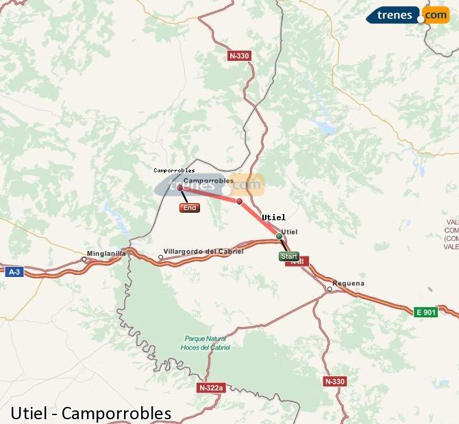Ampliar mapa Comboios Utiel Camporrobles
