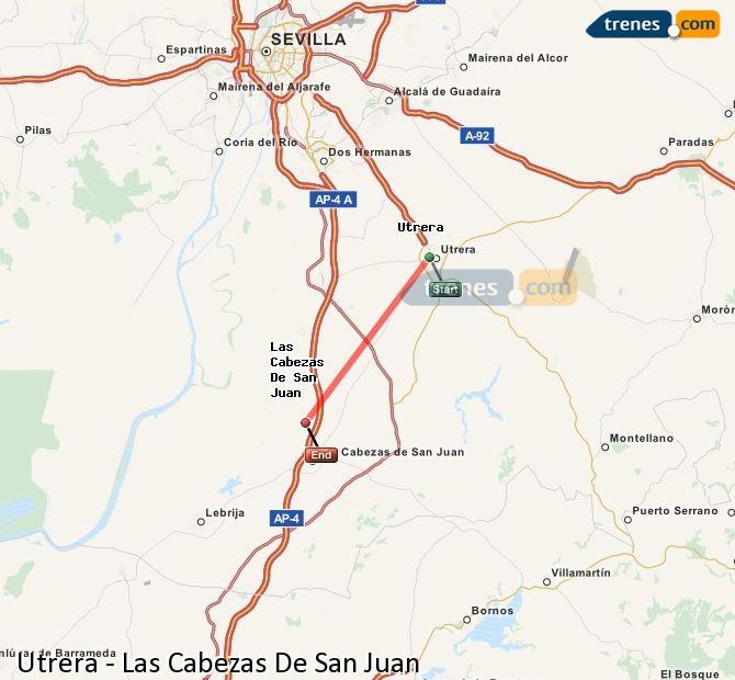 Ingrandisci la mappa Treni Utrera Las Cabezas De San Juan