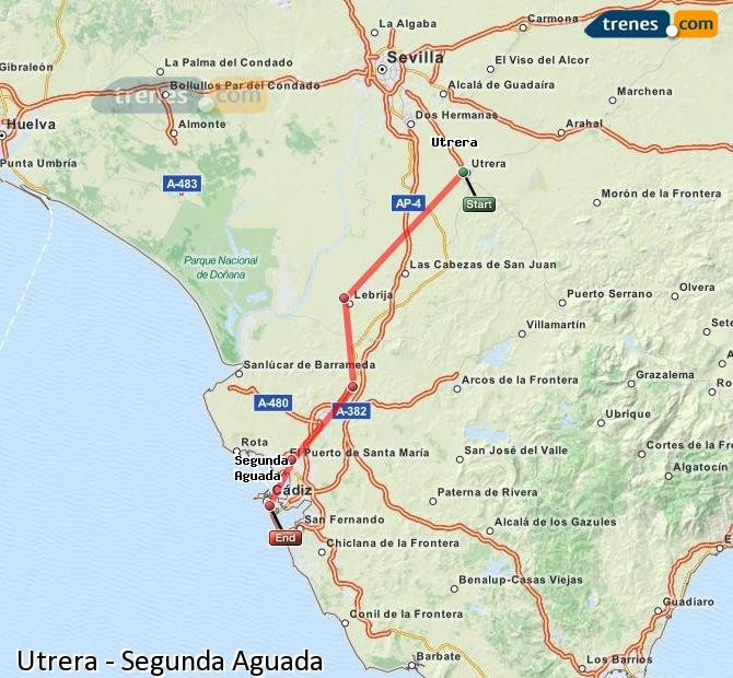 Ampliar mapa Trenes Utrera Segunda Aguada