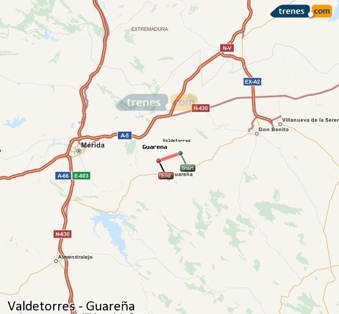 Ingrandisci la mappa Treni Valdetorres Guareña