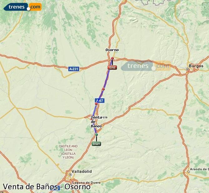 Ingrandisci la mappa Treni Venta de Baños Osorno
