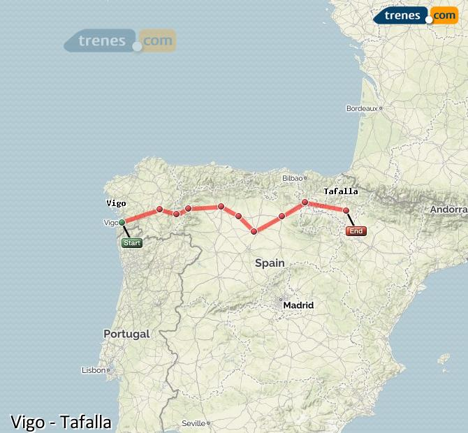 Ampliar mapa Comboios Vigo Tafalla