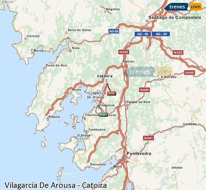 Ingrandisci la mappa Treni Vilagarcía De Arousa Catoira