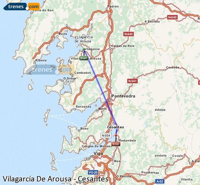 Ingrandisci la mappa Treni Vilagarcía De Arousa Cesantes