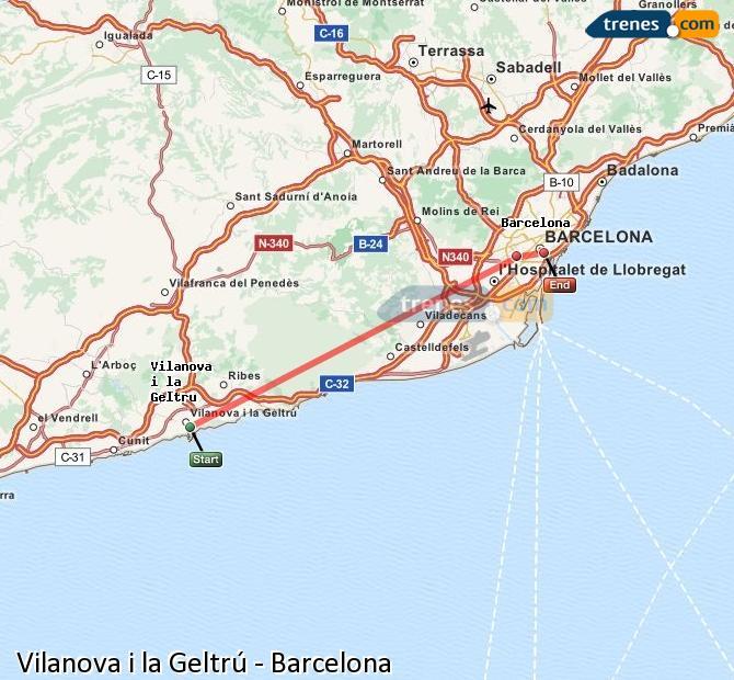 Trenes vilanova i la geltr barcelona baratos billetes - Jardineria vilanova i la geltru ...