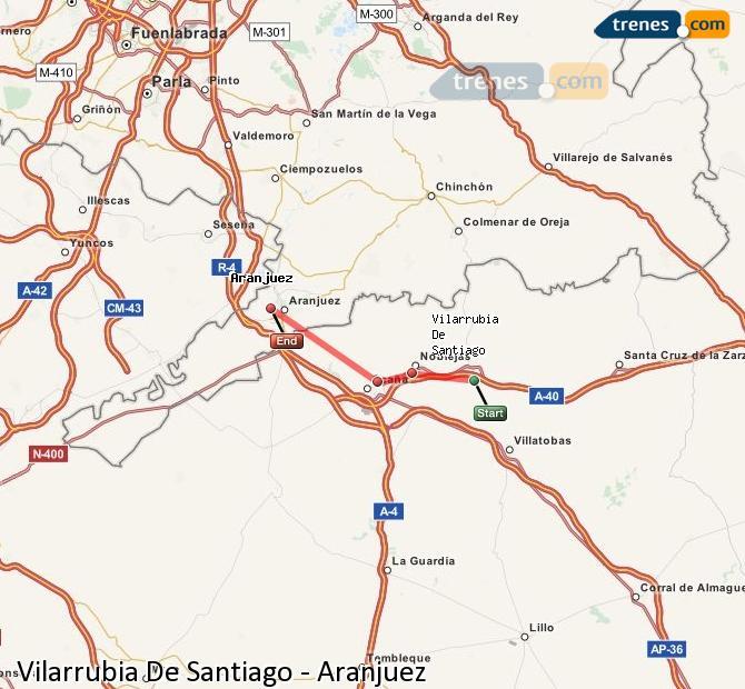 Ingrandisci la mappa Treni Vilarrubia De Santiago Aranjuez