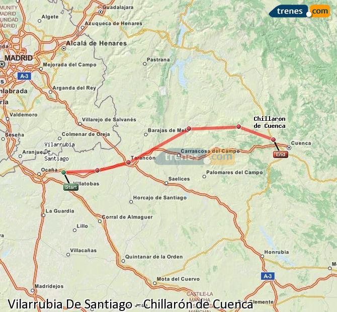 Ampliar mapa Trenes Vilarrubia De Santiago Chillarón de Cuenca