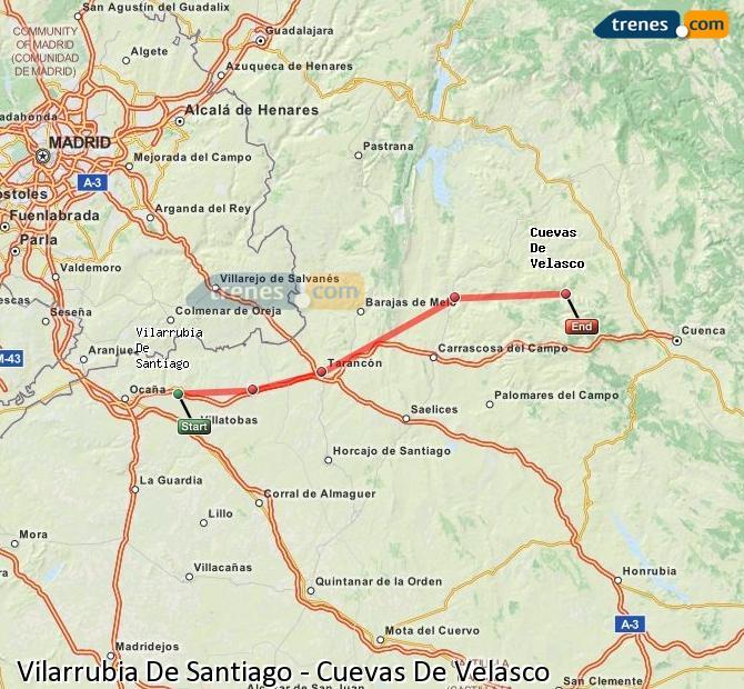 Ampliar mapa Trenes Vilarrubia De Santiago Cuevas De Velasco