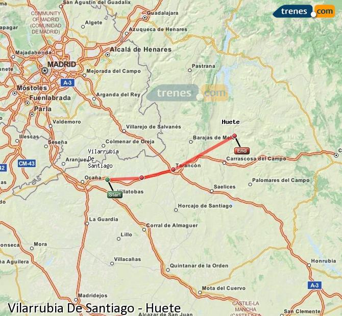 Ingrandisci la mappa Treni Vilarrubia De Santiago Huete
