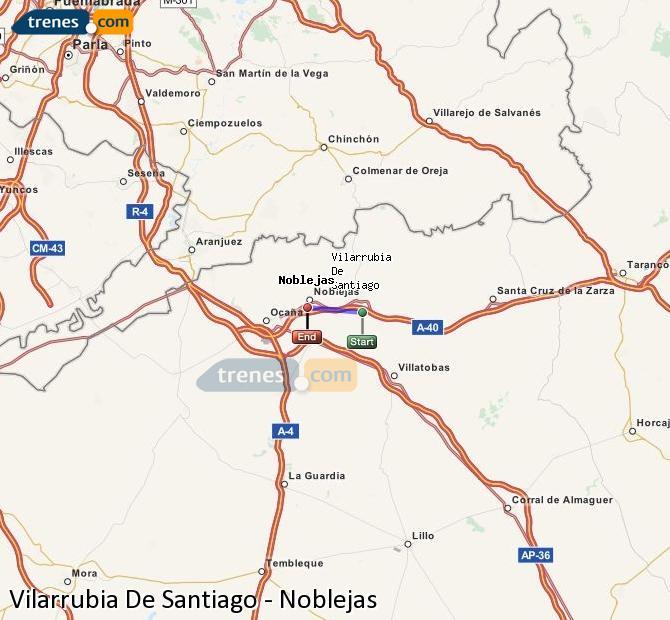 Ingrandisci la mappa Treni Vilarrubia De Santiago Noblejas