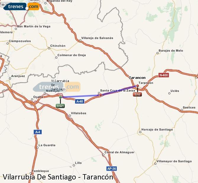 Ampliar mapa Trenes Vilarrubia De Santiago Tarancón