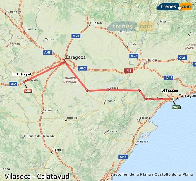 Ingrandisci la mappa Treni Vilaseca Calatayud
