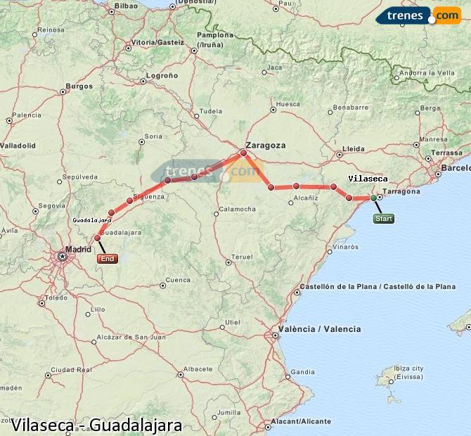 Ampliar mapa Trenes Vilaseca Guadalajara