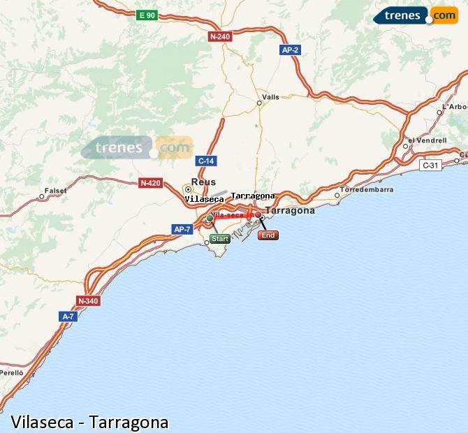 Ingrandisci la mappa Treni Vilaseca Tarragona