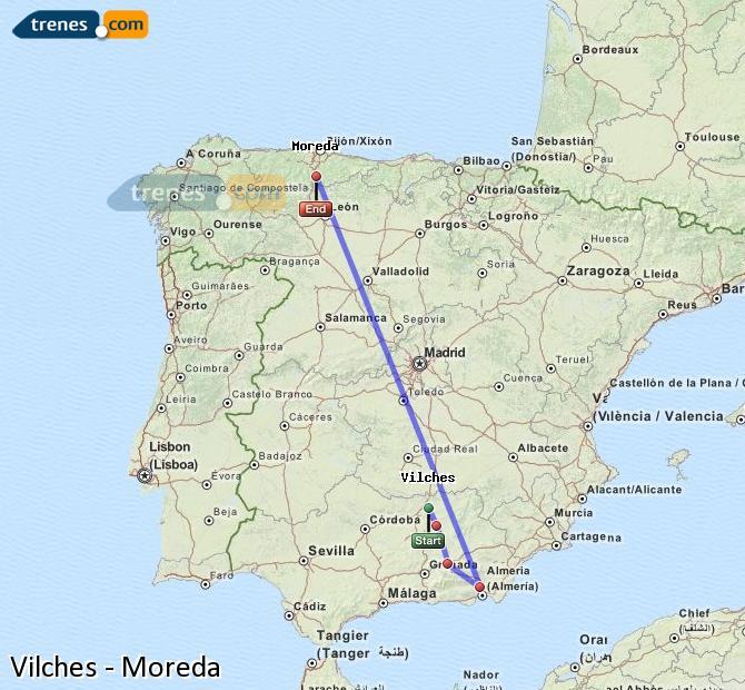 Ingrandisci la mappa Treni Vilches Moreda
