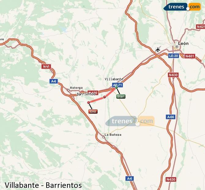 Ampliar mapa Trenes Villabante Barrientos