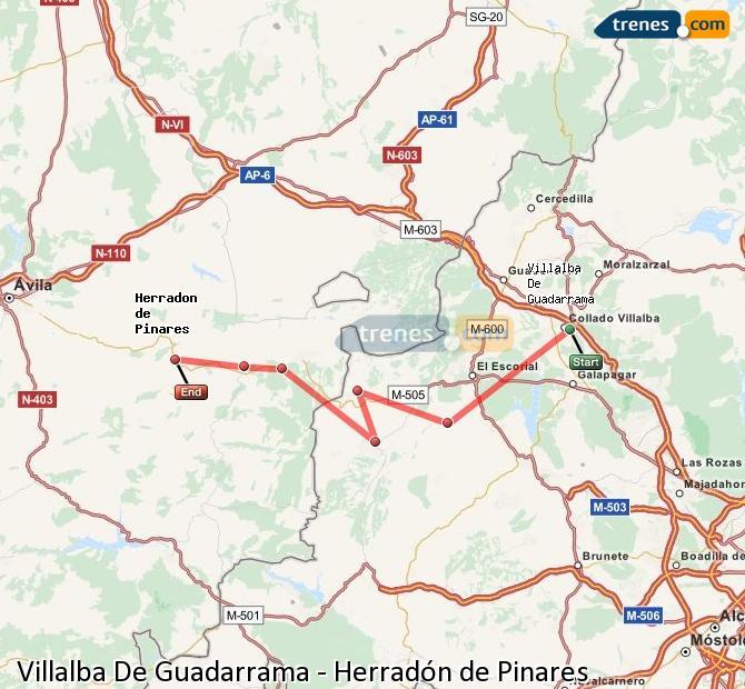 Ingrandisci la mappa Treni Villalba De Guadarrama Herradón de Pinares