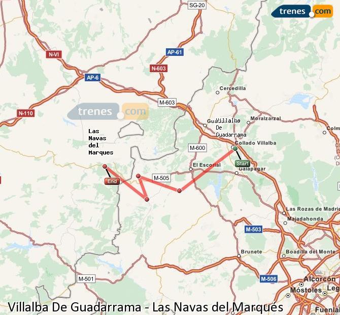 Ingrandisci la mappa Treni Villalba De Guadarrama Las Navas del Marqués