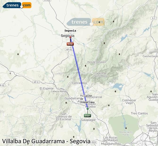 Ingrandisci la mappa Treni Villalba De Guadarrama Segovia
