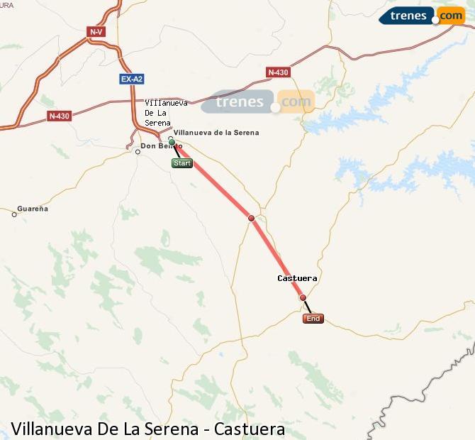Ingrandisci la mappa Treni Villanueva De La Serena Castuera