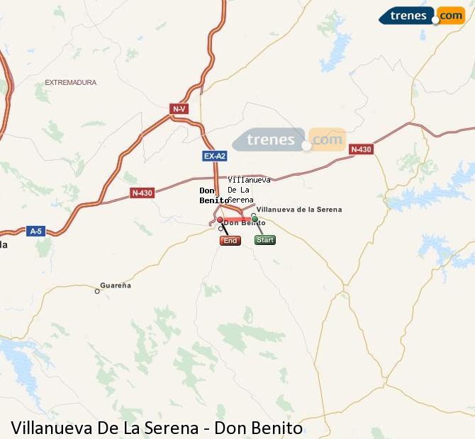 Ampliar mapa Trenes Villanueva De La Serena Don Benito