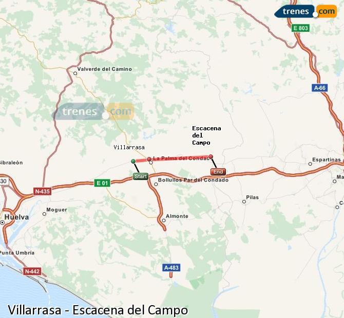 Ampliar mapa Trenes Villarrasa Escacena del Campo