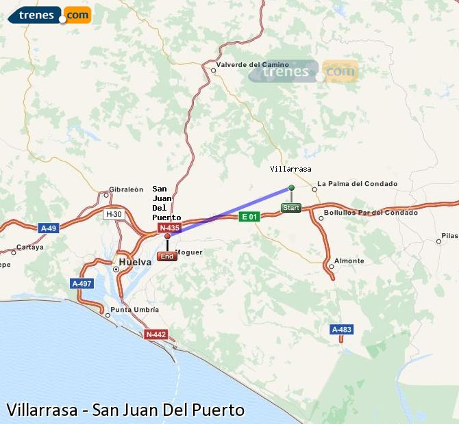Ampliar mapa Trenes Villarrasa San Juan Del Puerto