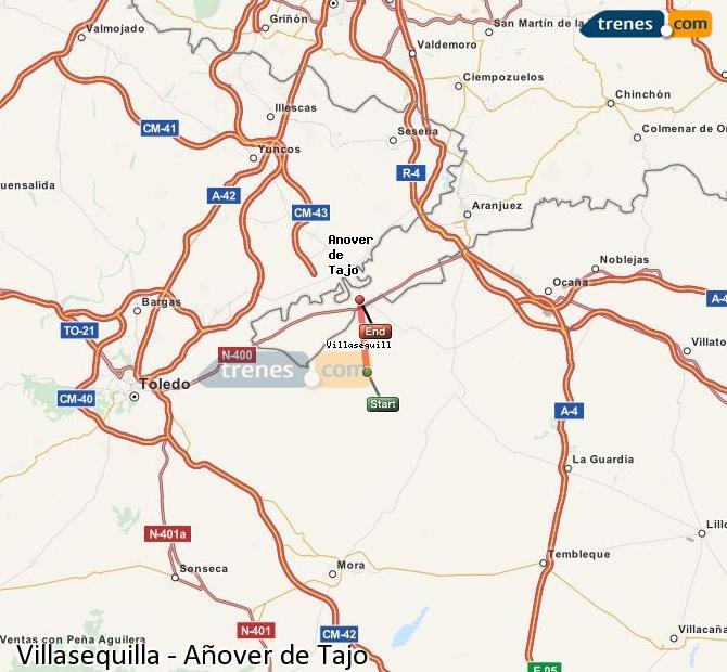 Ingrandisci la mappa Treni Villasequilla Añover de Tajo