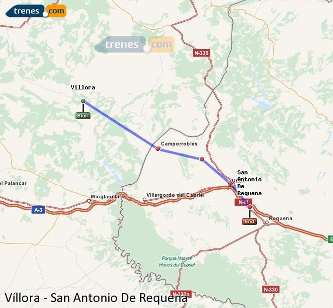 Ampliar mapa Trenes Víllora San Antonio De Requena