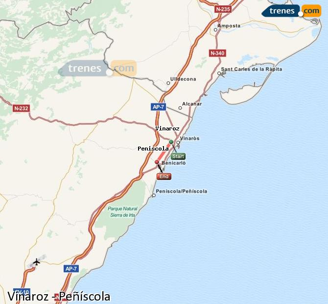 Cheap Vinaroz To Peniscola Trains Tickets From 1 15 Trenes Com