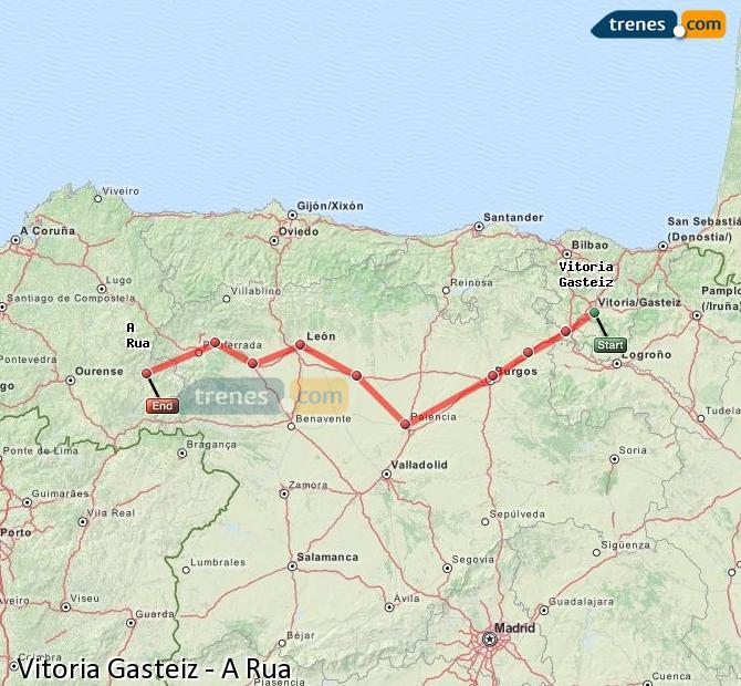 Ampliar mapa Comboios Vitoria Gasteiz A Rua