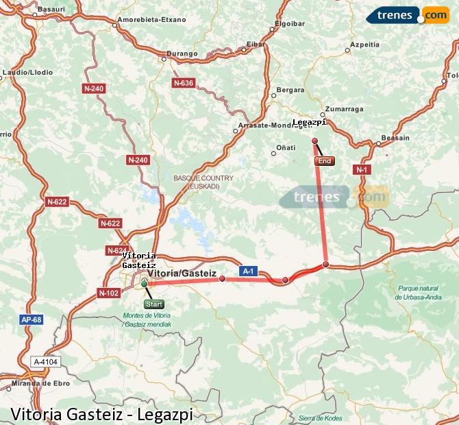 Karte vergrößern Züge Vitoria Gasteiz Legazpi