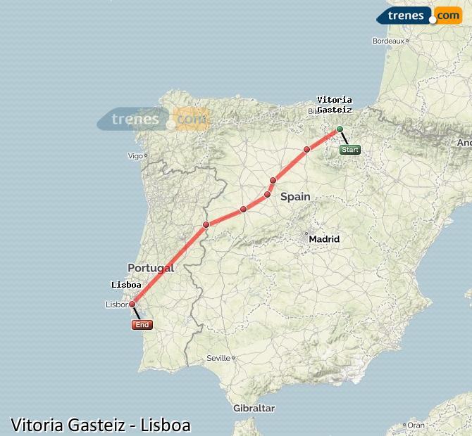 Karte vergrößern Züge Vitoria Gasteiz
