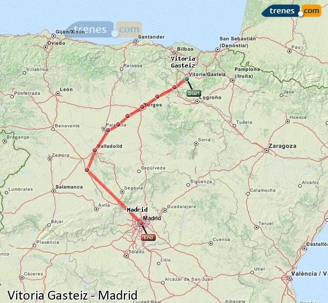 Ampliar mapa Trenes Vitoria Gasteiz Madrid