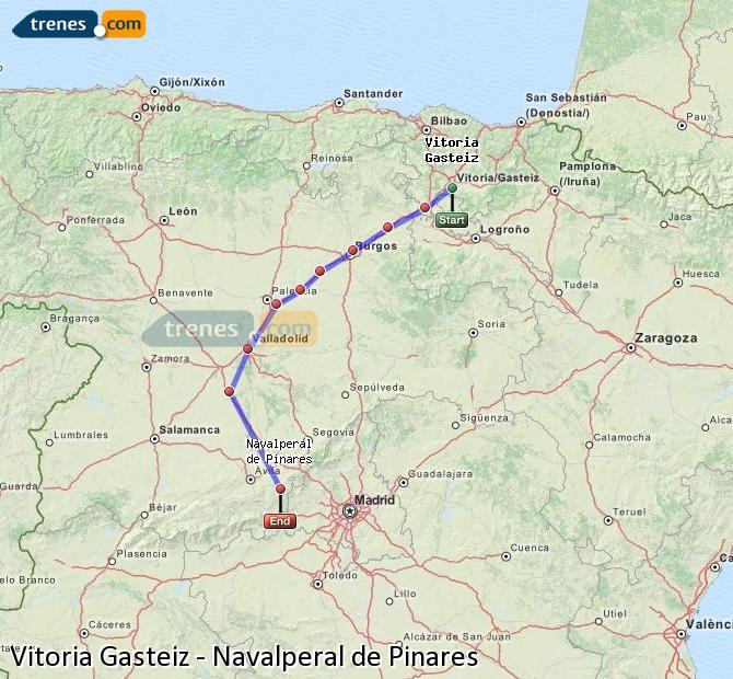 Karte vergrößern Züge Vitoria Gasteiz Navalperal de Pinares