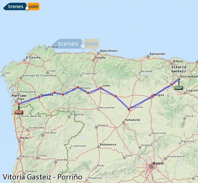 Enlarge map Trains Vitoria Gasteiz to Porriño