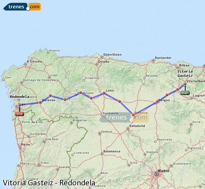 Karte vergrößern Züge Vitoria Gasteiz Redondela