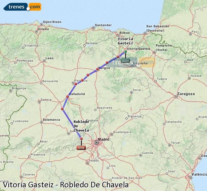 Ampliar mapa Comboios Vitoria Gasteiz Robledo De Chavela