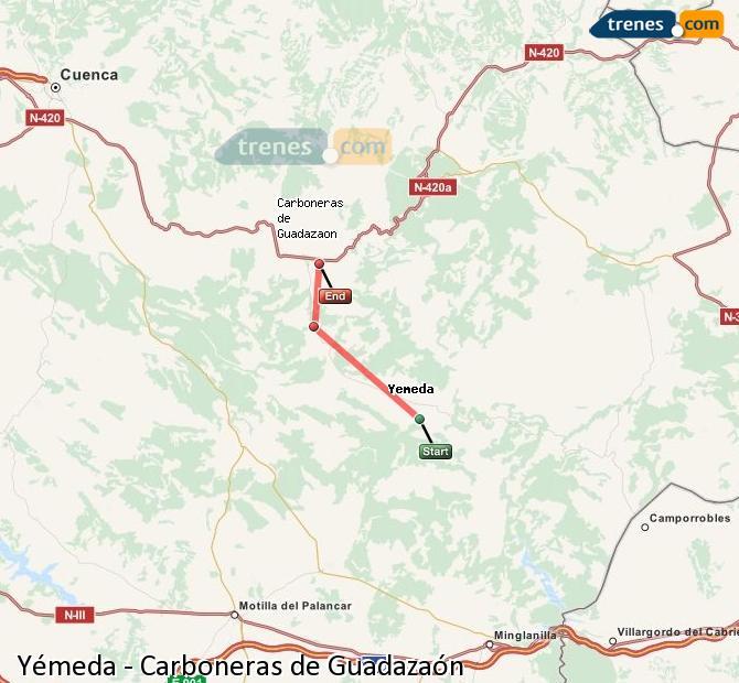 Ingrandisci la mappa Treni Yémeda Carboneras de Guadazaón