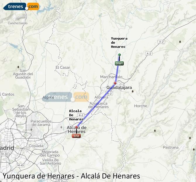 Karte vergrößern Züge Yunquera de Henares Alcalá De Henares